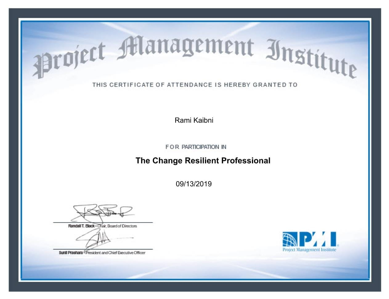 Change Resilient Professional