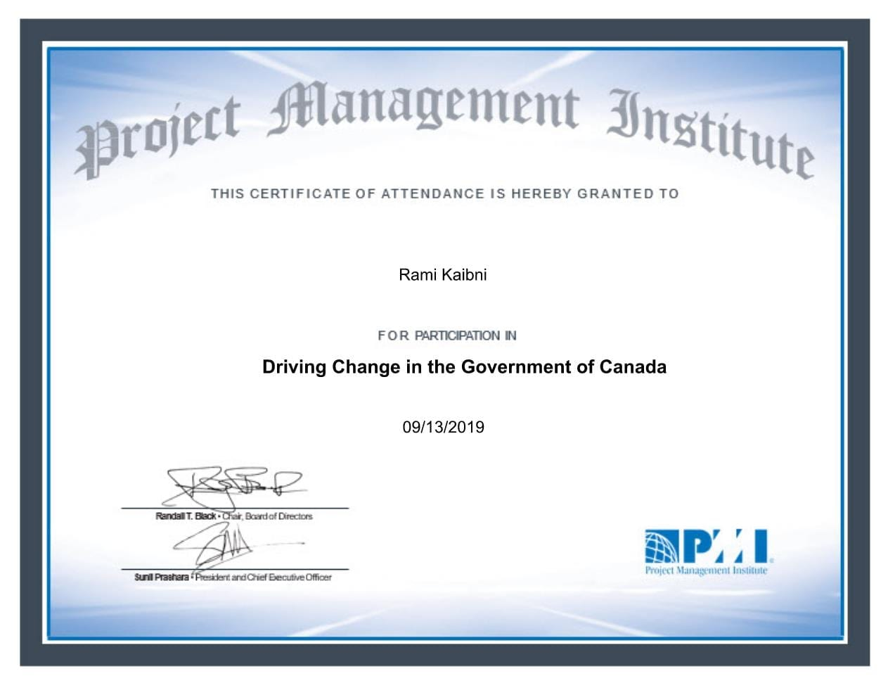 Driving Change in the Gov of Canada