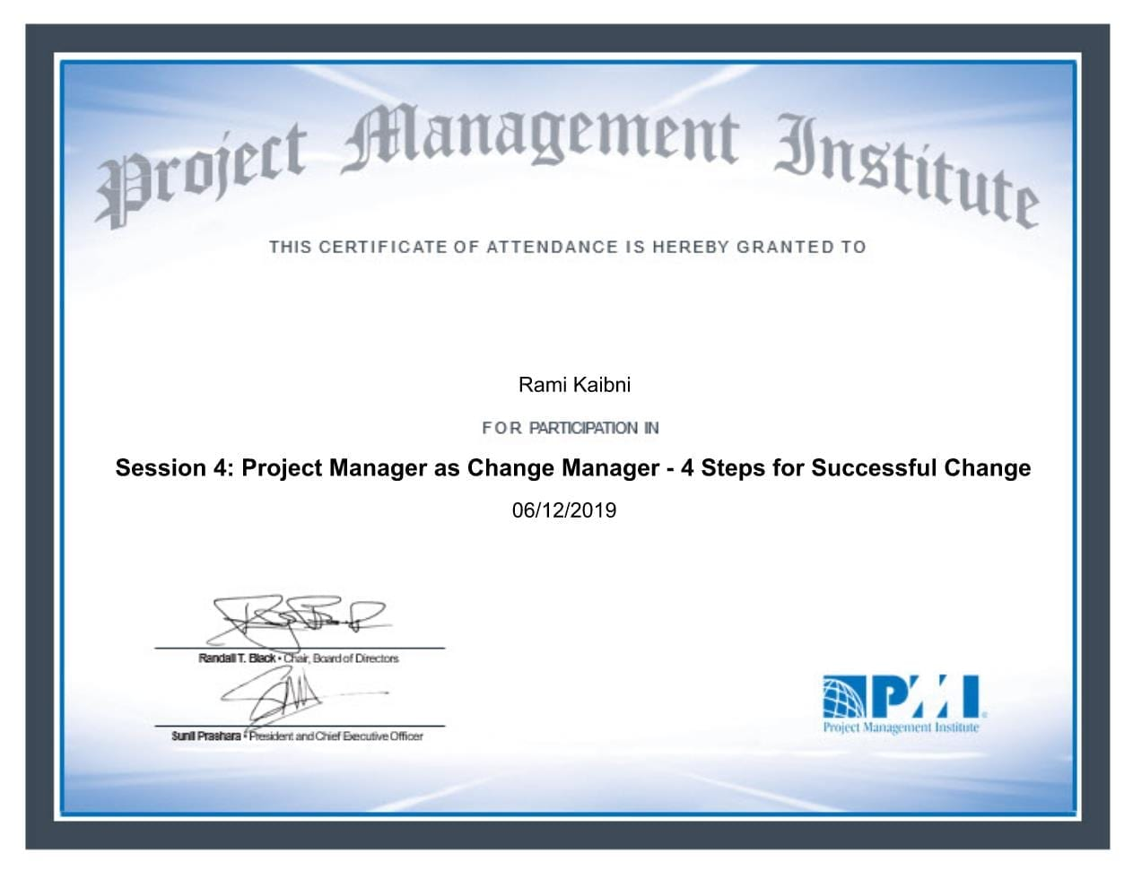 Project Manager as Change Manager