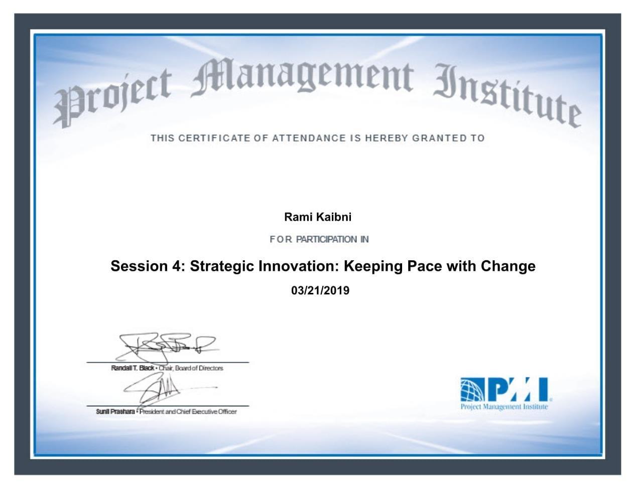 Session 4 - Strategic Innovation