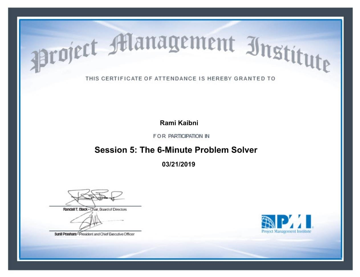 Session 5 - The 6 Minute Problem Solver