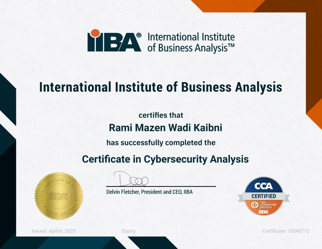 IIBA-CCA