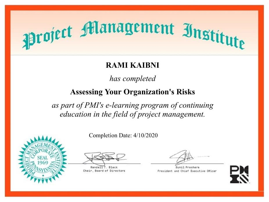 Assessing your Organizations Risk