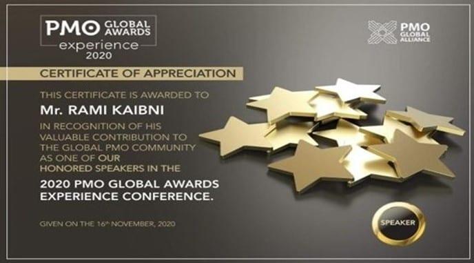 PMO Global Awards Speaker 2020