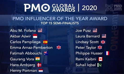 PMO Influencers Nomination September 2020