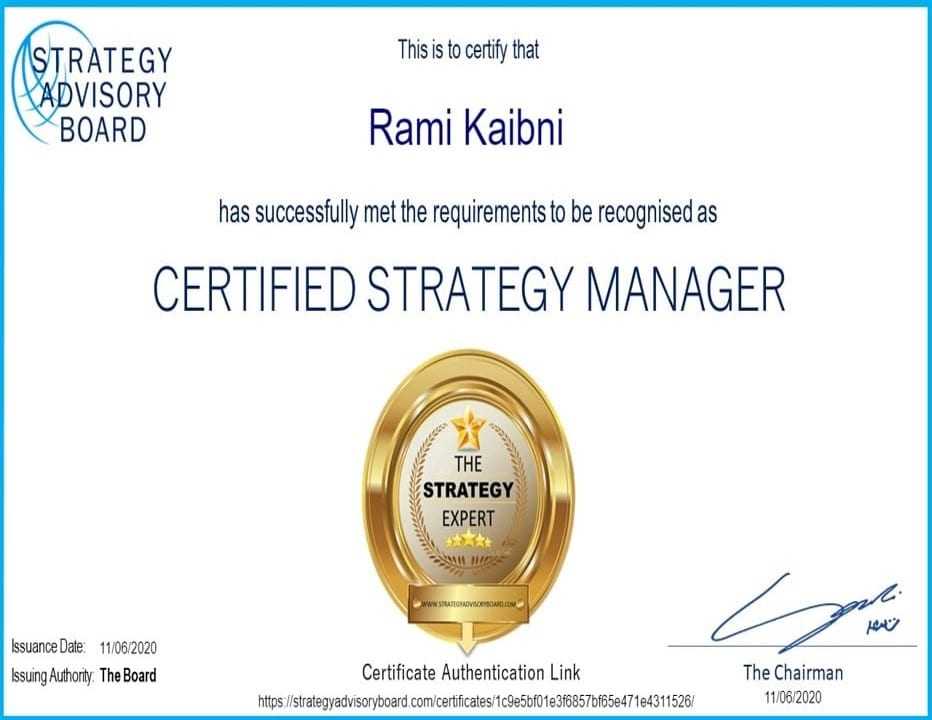 Certified Strategy Manager