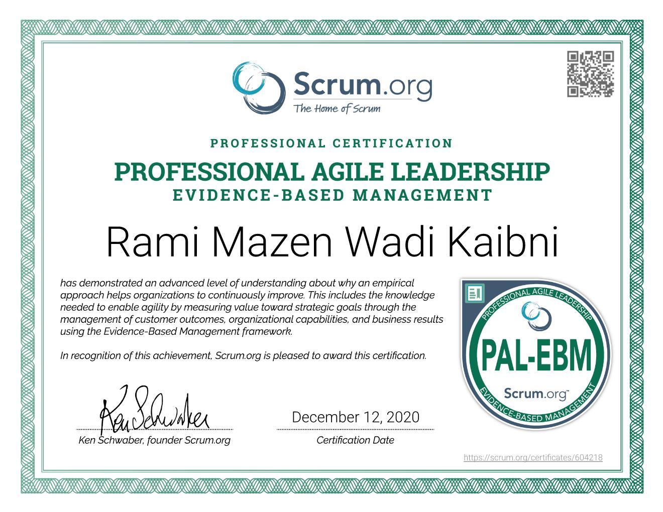 PAL-EBM Certificate