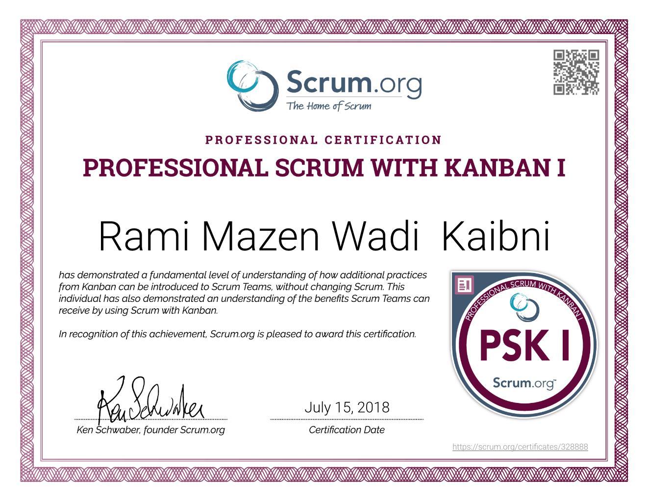 PSK I Certificate